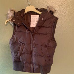 Aeropostale's Hooded Winter Vest